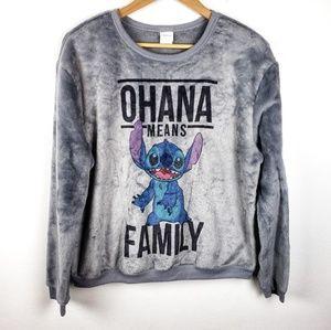Disney | Gray Lilo & Stitch Ohana Sweatshirt XL